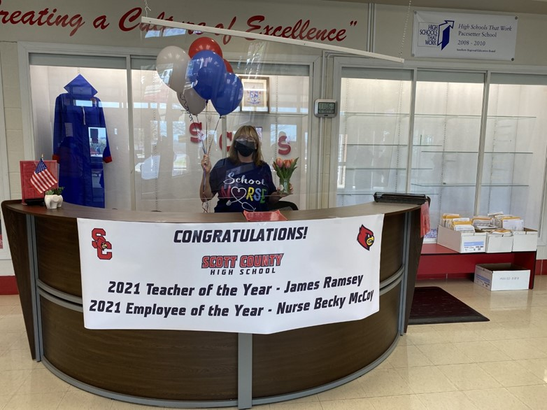 SCHS Employee of the Year 2021 - Nurse Becky McCoy
