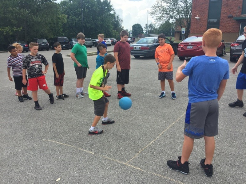 6th Graders Enjoy Recess Time
