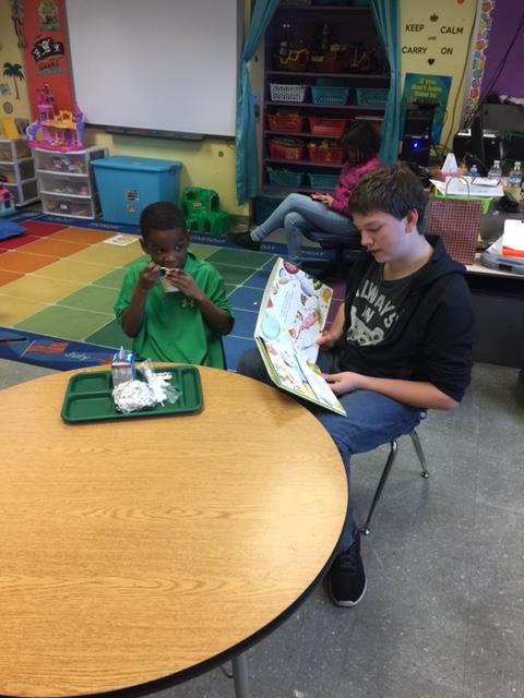 Reading Buddies Working Together