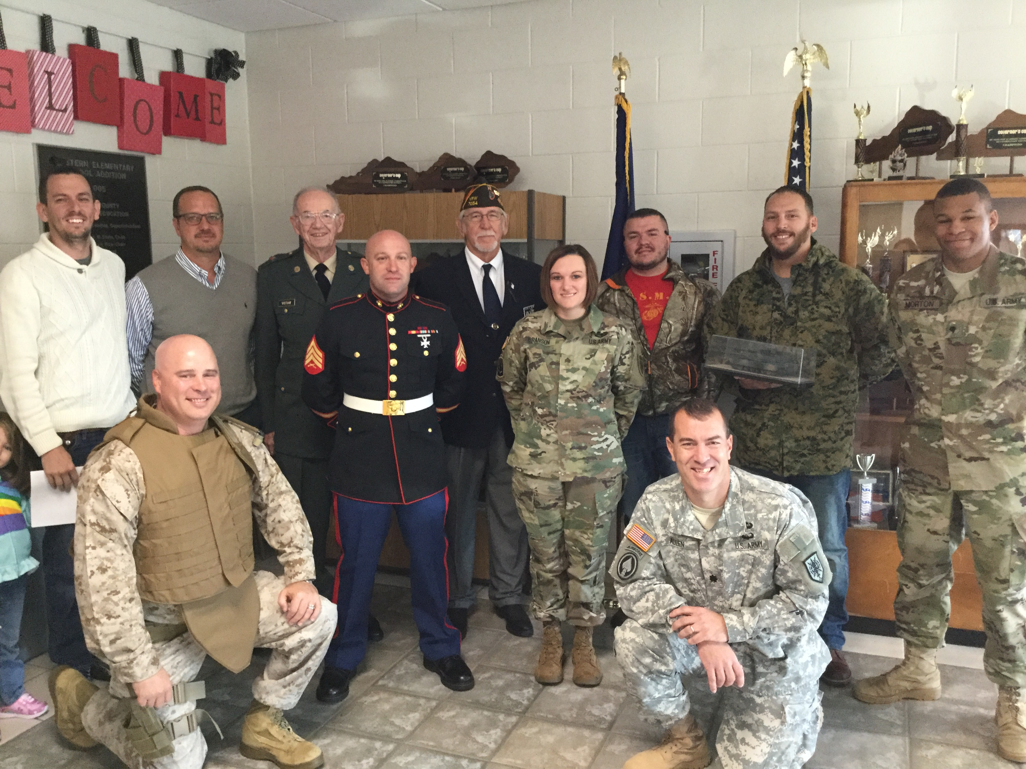 Soldiers visit Western for Veterans day