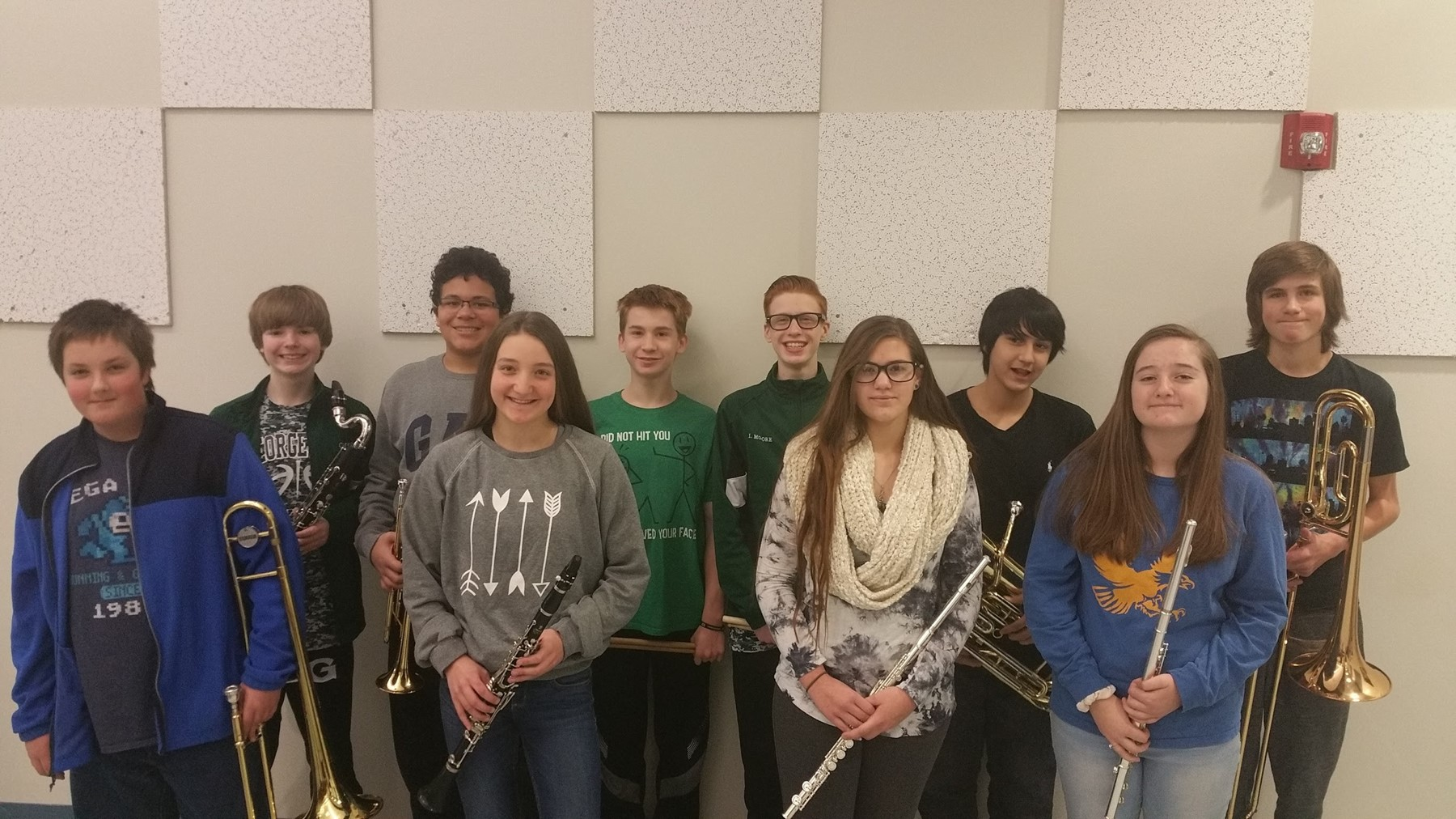8th Grade Honor Band Selectees