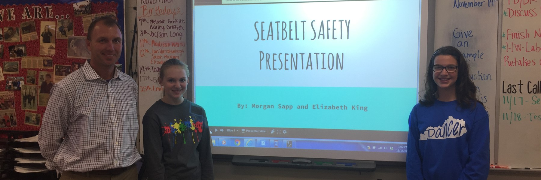 Student project improves safety