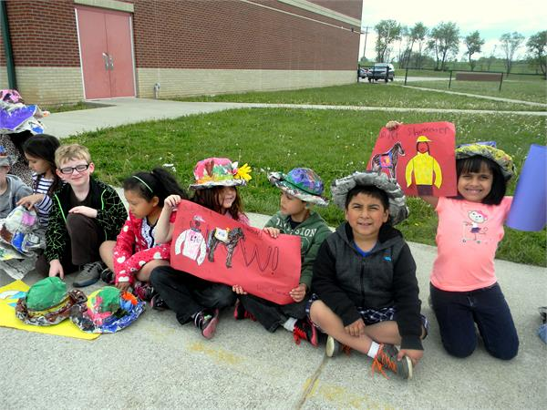 Students prepare for the Derby by learning traditions and accessorizing.