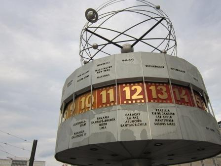 World Clock at Alexanderplatz Berlin 2011