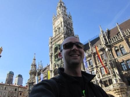 Mr. Gravitt at Marienplatz in Munich 2011
